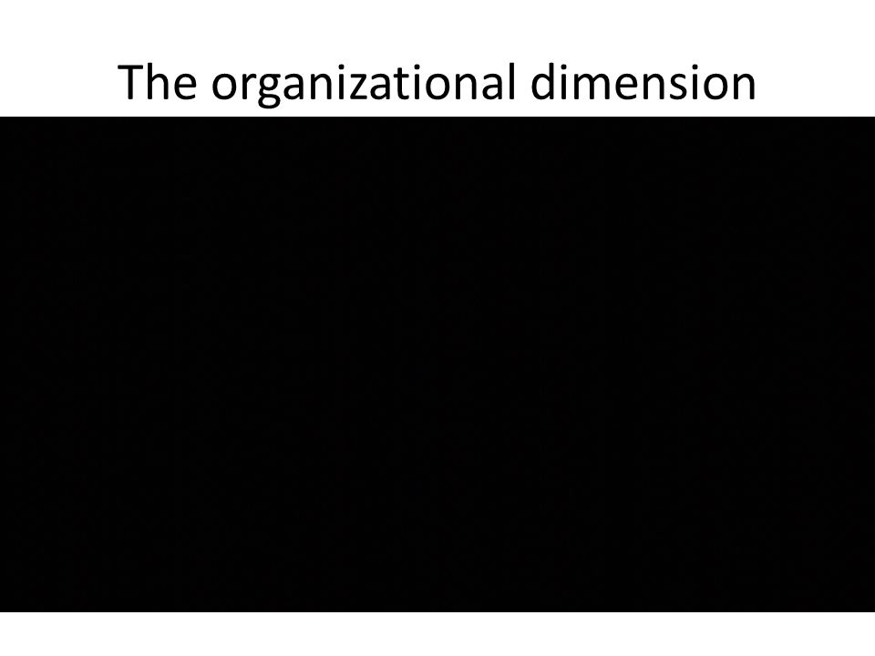 The organizational dimension