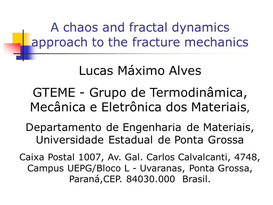 Conclusions This paper present arguments in favour of chaotic behavior of rupture.