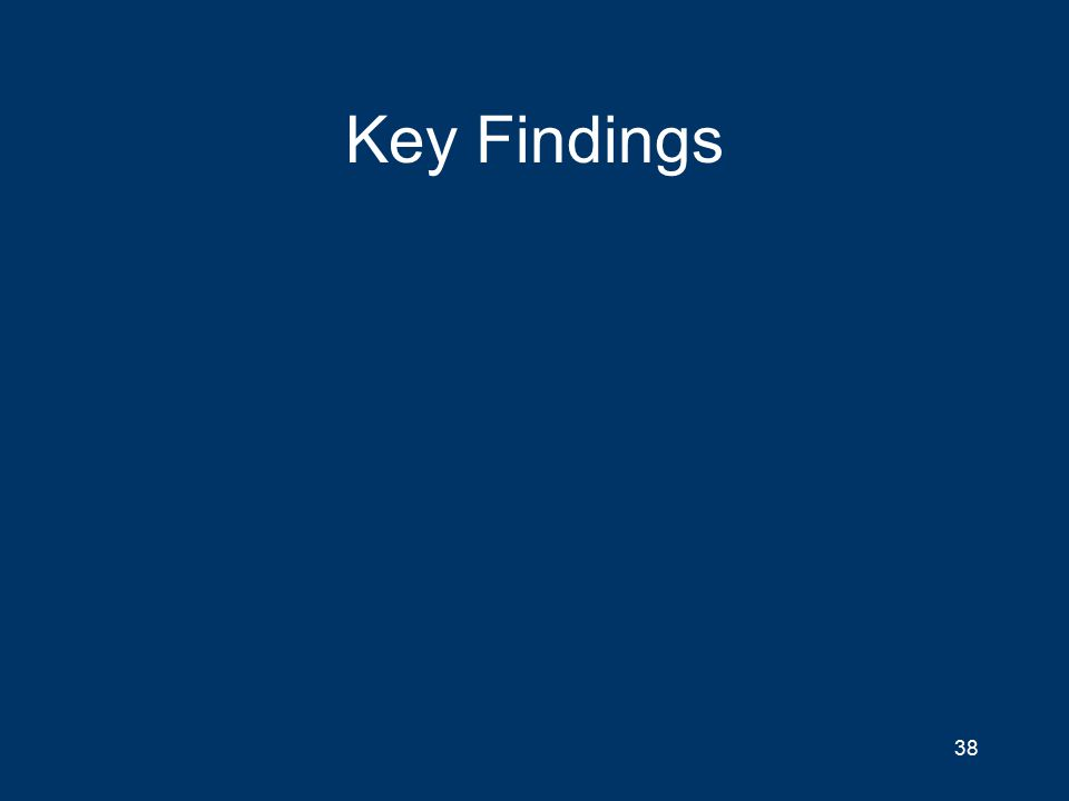 Key Findings 38