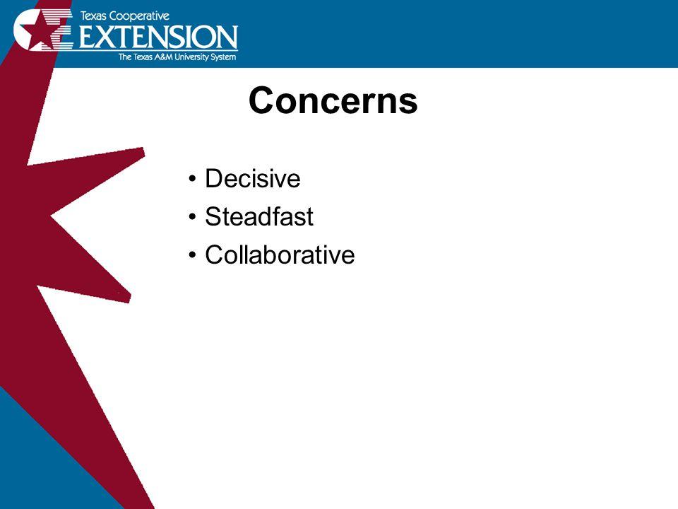 Concerns Decisive Steadfast Collaborative