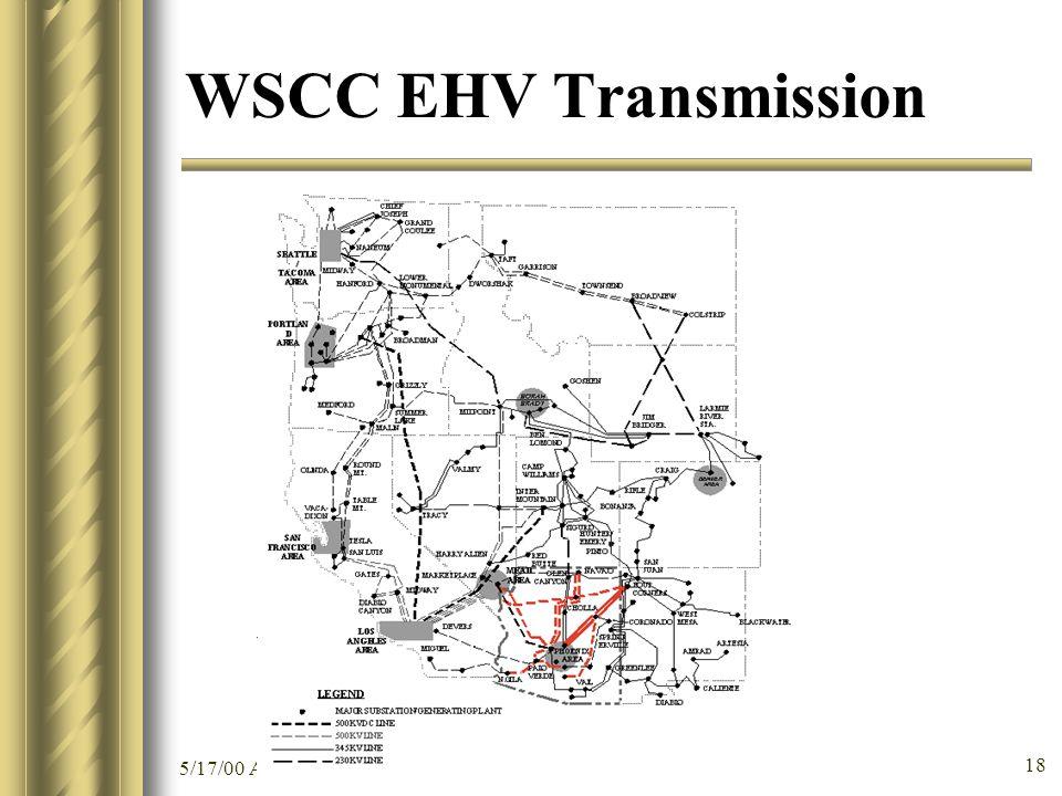 5/17/00 ACC Summer Peak 2000 Preparedness Workshop 18 WSCC EHV Transmission
