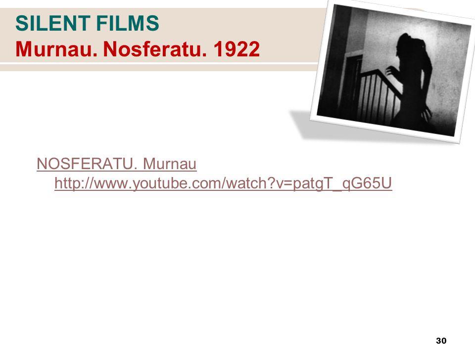 SILENT FILMS Murnau. Nosferatu. 1922 NOSFERATU.