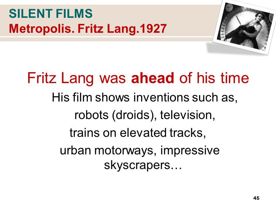 SILENT FILMS Metropolis.
