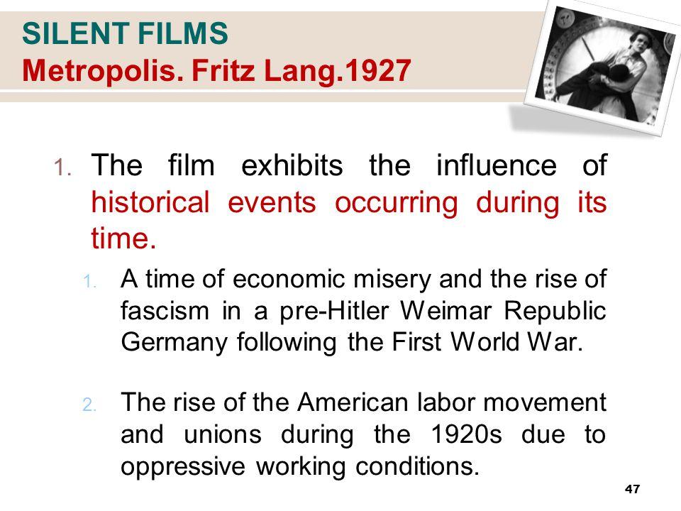 SILENT FILMS Metropolis. Fritz Lang.1927 1.