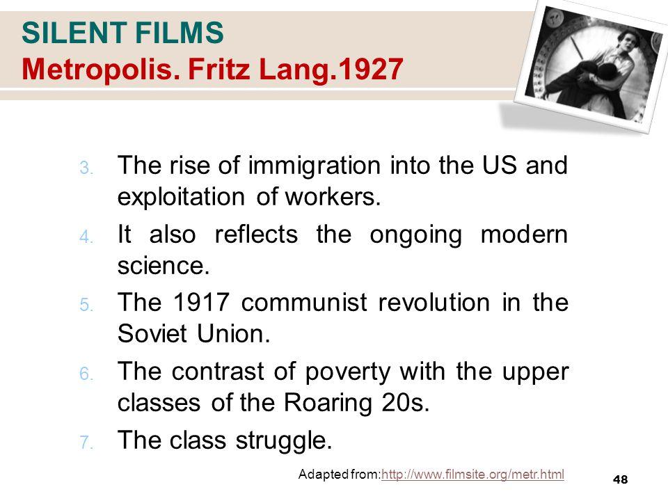 SILENT FILMS Metropolis. Fritz Lang.1927 3.