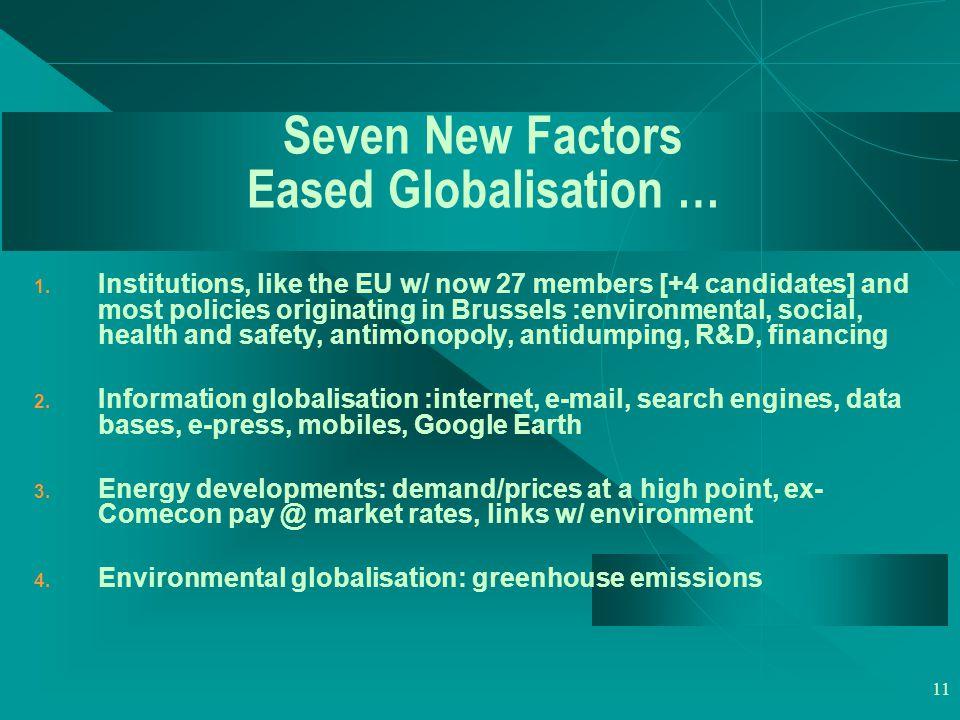 11 Seven New Factors Eased Globalisation … 1.