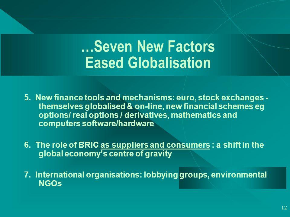 12 …Seven New Factors Eased Globalisation 5.