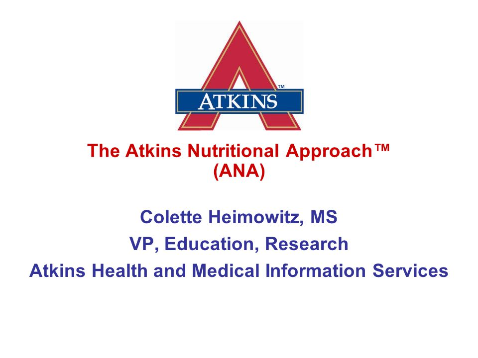 How the Atkins Lifestyle Works for You Healthy convenient foods that taste great.