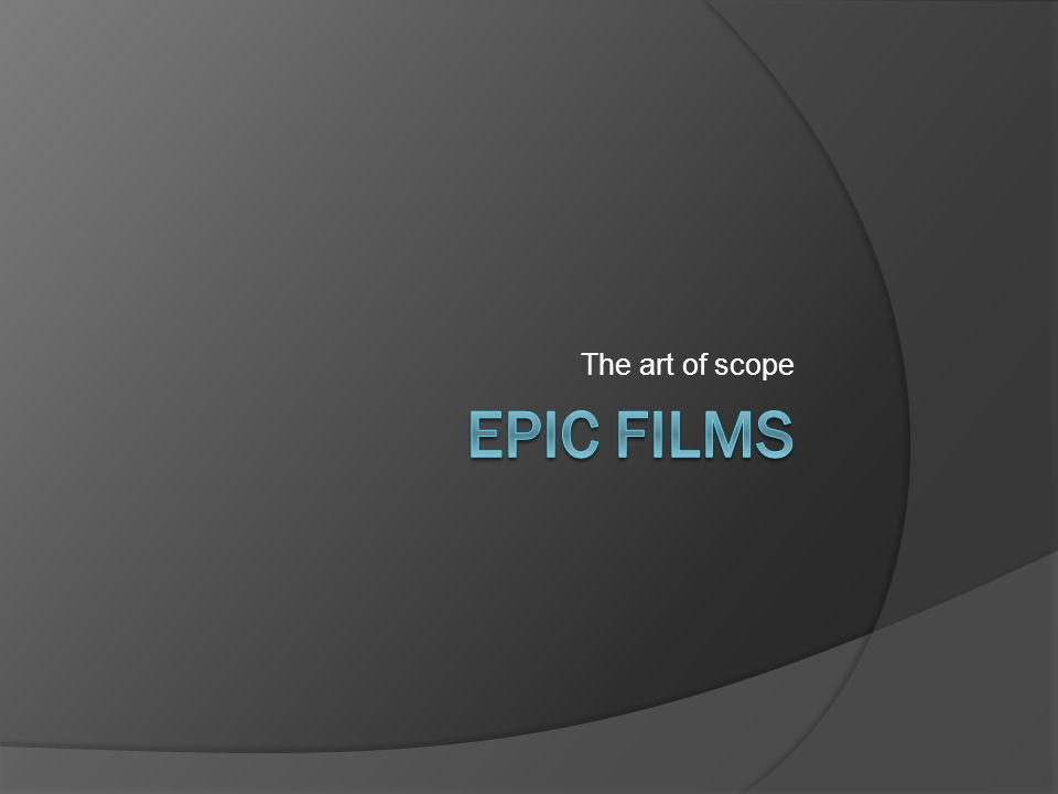 The art of scope