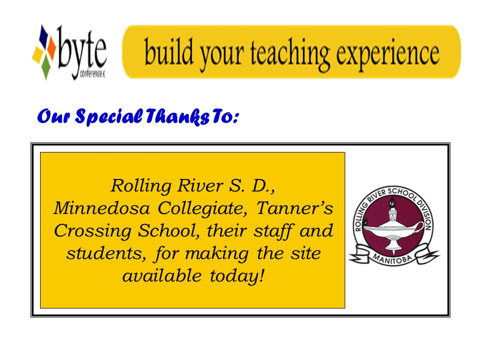 Our Special Thanks To: Rolling River S.