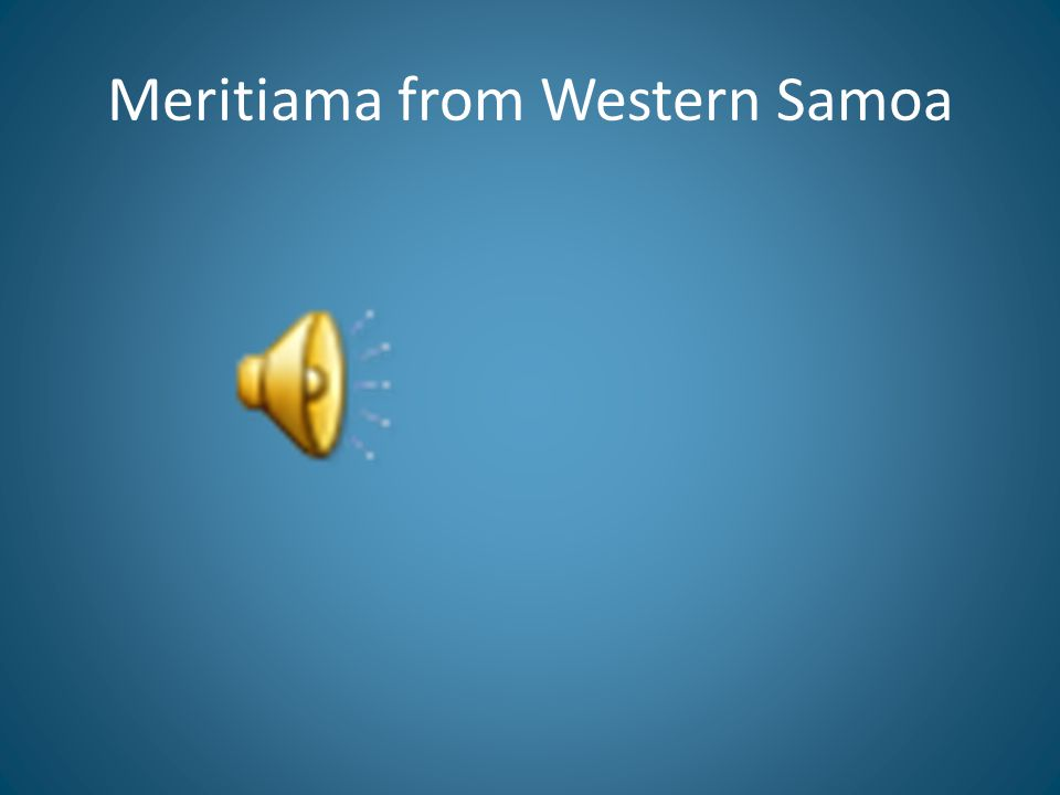 Meritiama from Western Samoa