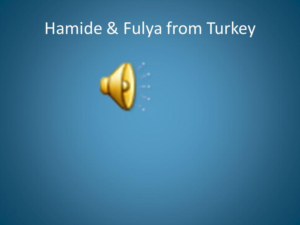 Hamide & Fulya from Turkey
