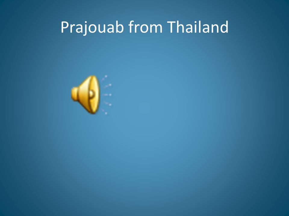Prajouab from Thailand