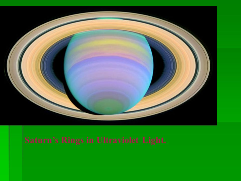 Saturn's Rings in Ultraviolet Light.