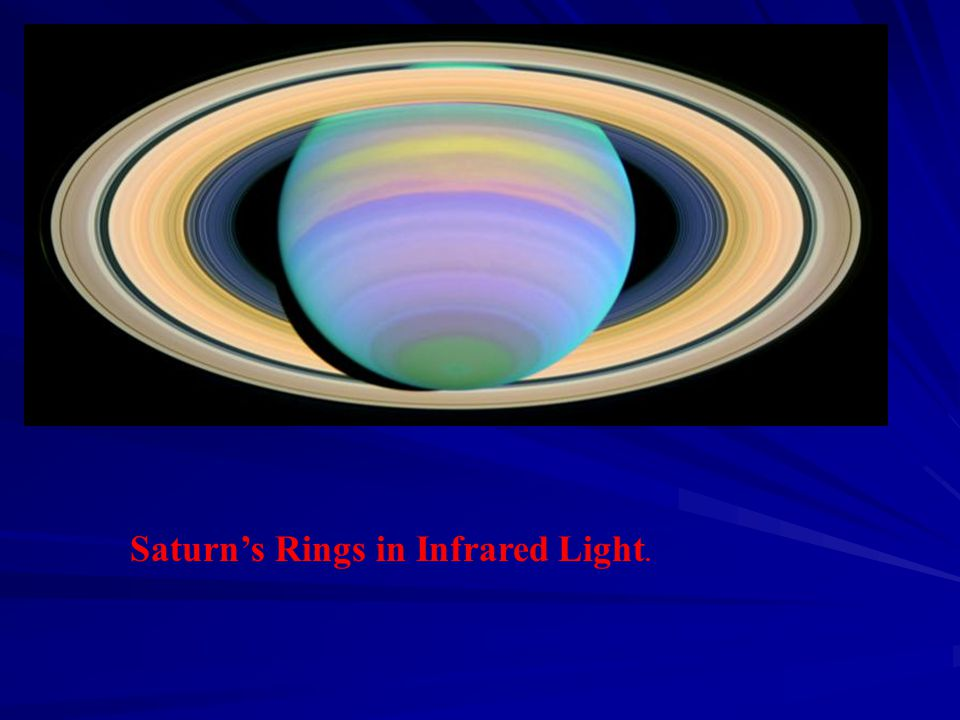 Saturn's Rings in Infrared Light.