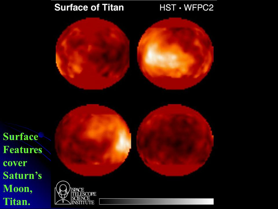 Surface Features cover Saturn's Moon, Titan.
