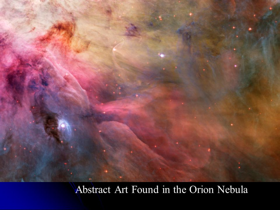 Abstract Art Found in the Orion Nebula