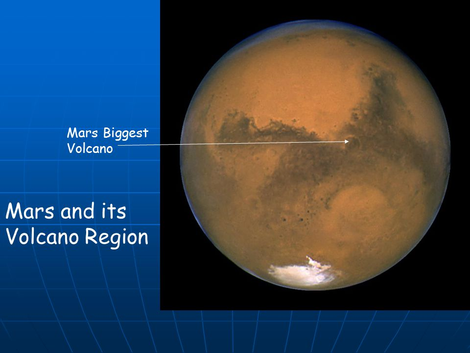 Mars and its Volcano Region Mars Biggest Volcano