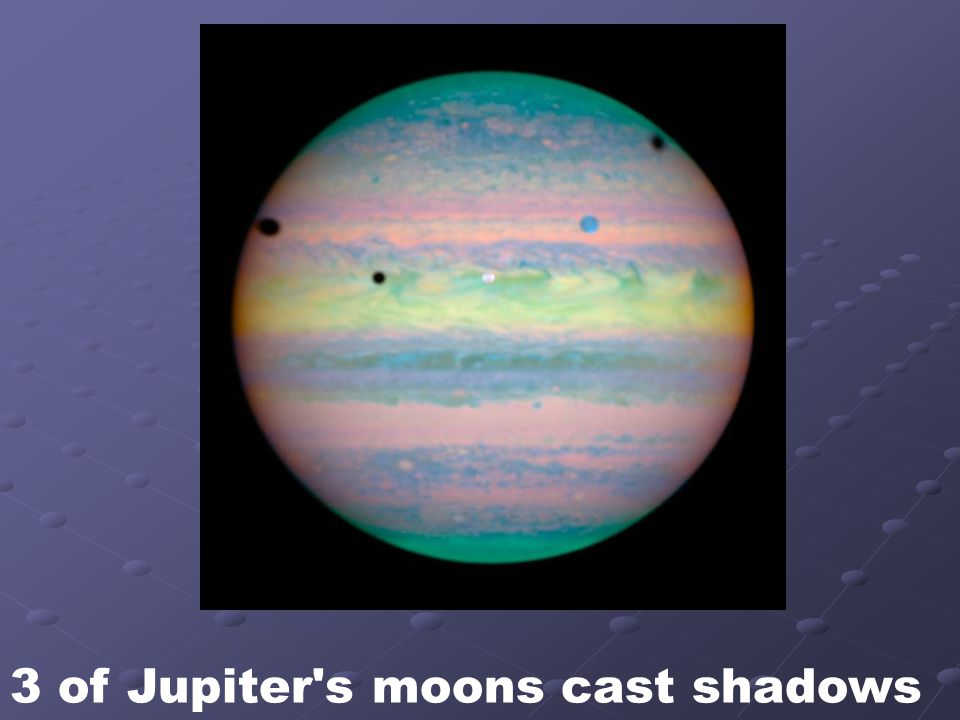3 of Jupiter s moons cast shadows