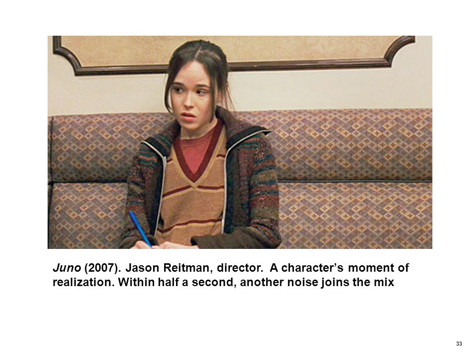 33 Juno (2007).Jason Reitman, director. A character's moment of realization.