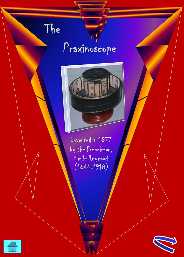 The Praxinoscope Invented in 1877 by the Frenchman, Emile Reynaud (1844-1918)