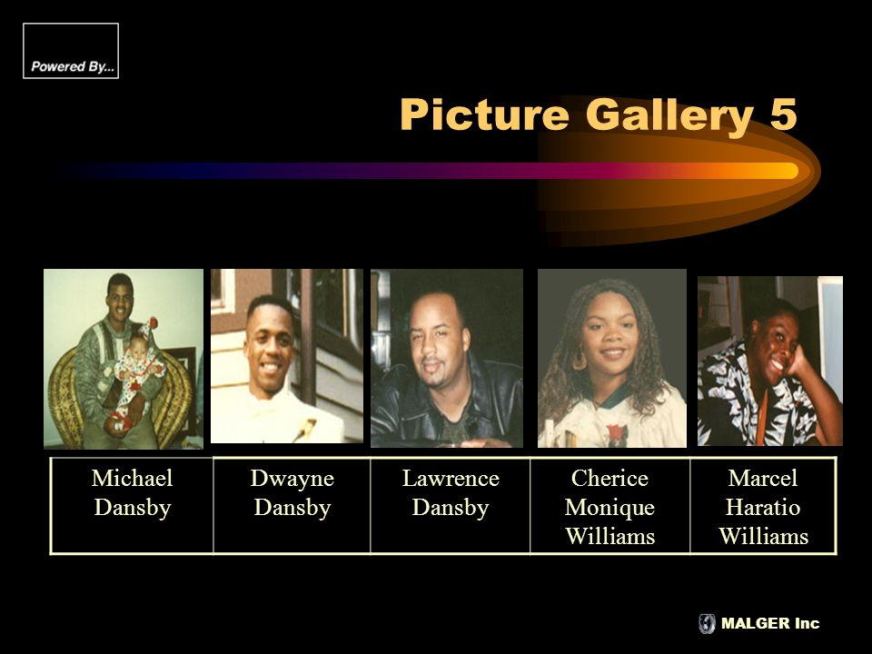 MALGER Inc Picture Gallery 5 Michael Dansby Dwayne Dansby Lawrence Dansby Cherice Monique Williams Marcel Haratio Williams