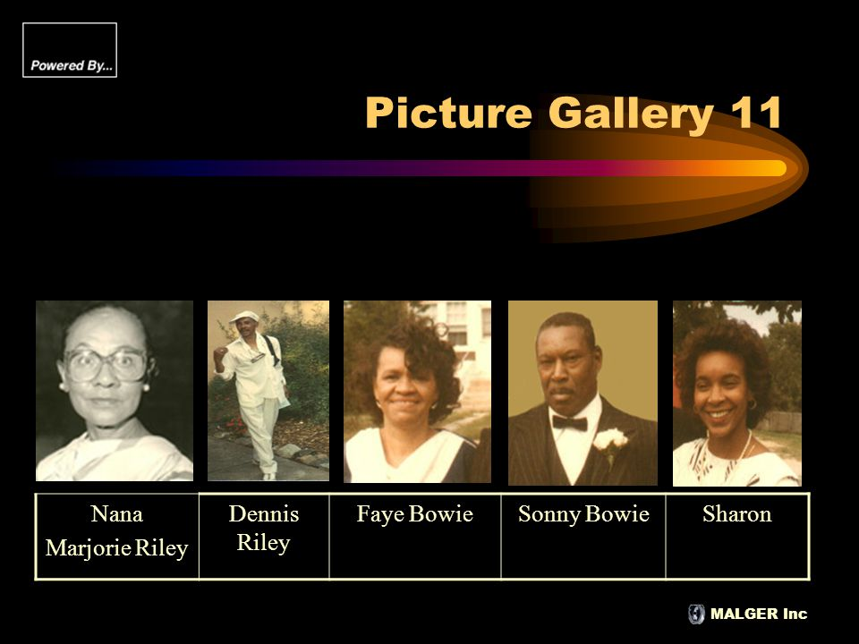 MALGER Inc Picture Gallery 11 Nana Marjorie Riley Dennis Riley Faye BowieSonny BowieSharon