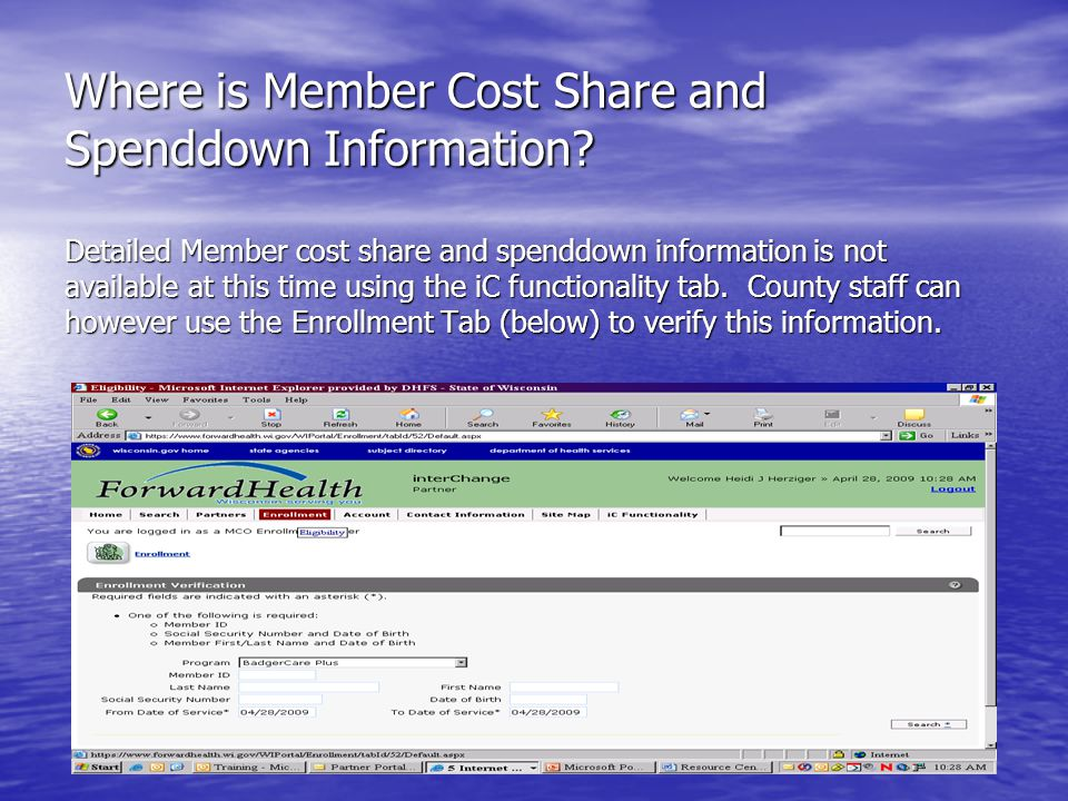 Where is Member Cost Share and Spenddown Information.