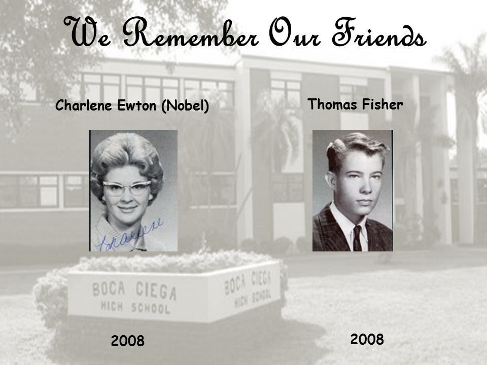 We Remember Our Friends Frederick Ebert Carol Ellington 1981 2009