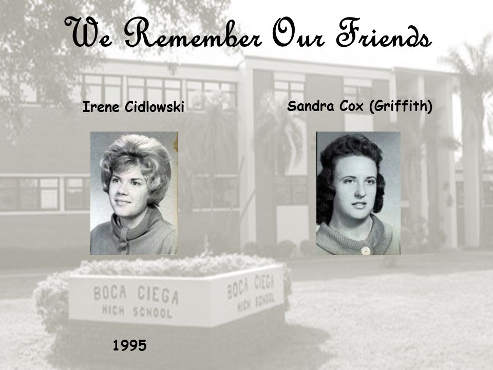 We Remember Our Friends Robert Skip Carr Sharon Christian (Grammer) 2008 2002