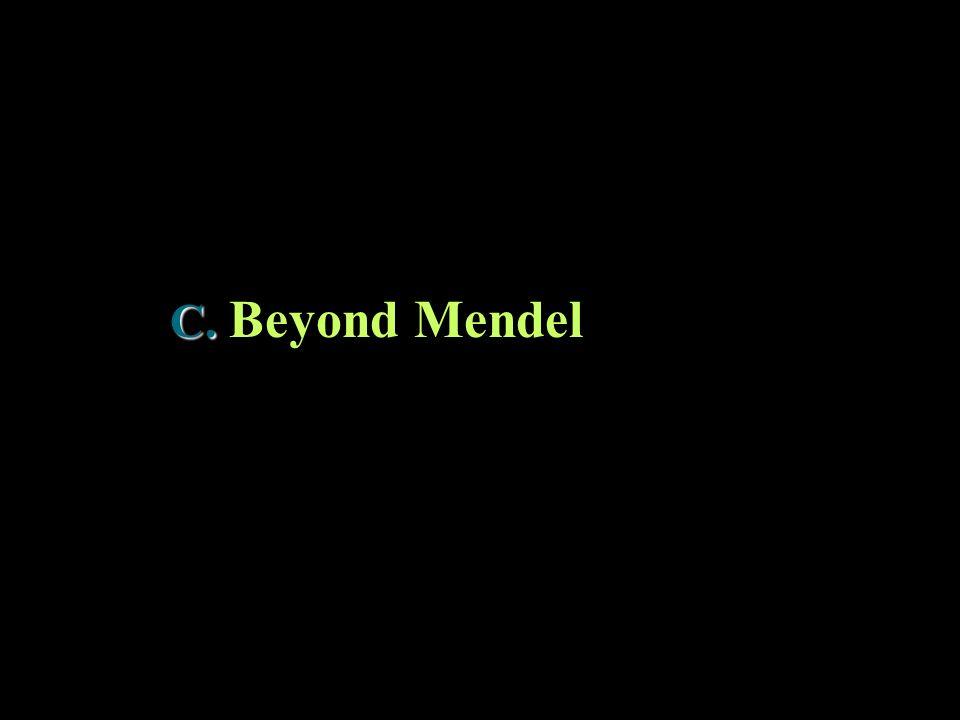C. C. Beyond Mendel
