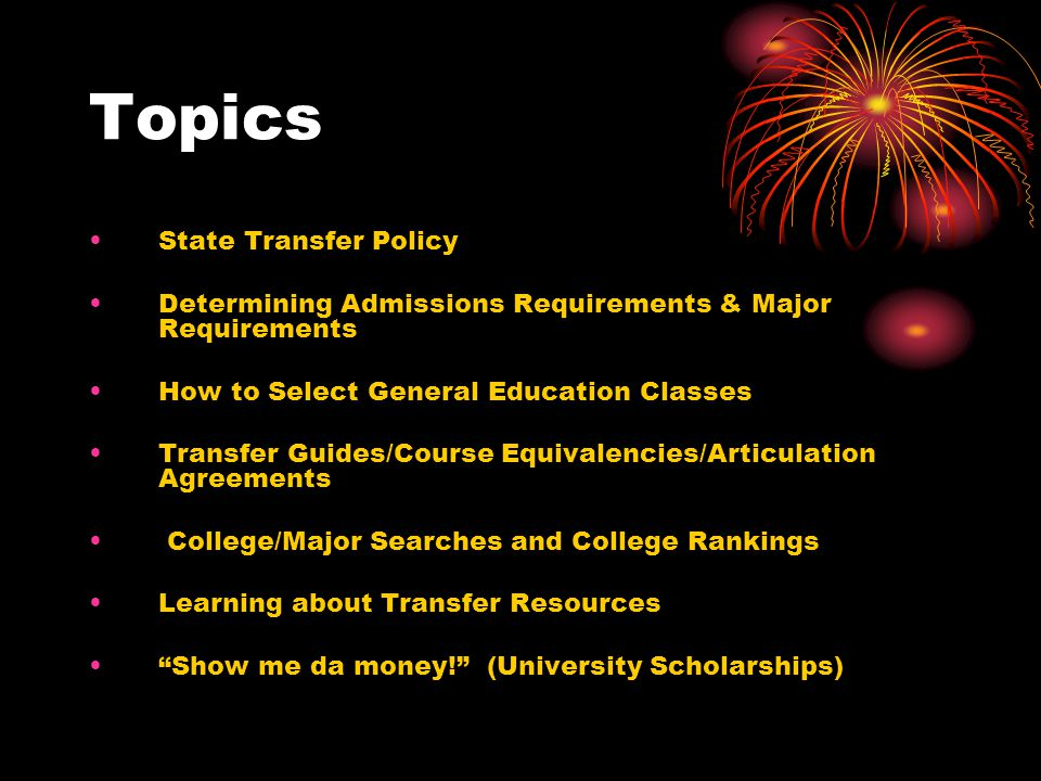 State Transfer Policy For public colleges in VA, students earning a transferable Associates degree, if accepted, will enter as junior standing, and will be considered to have met all lower-division general education requirements.