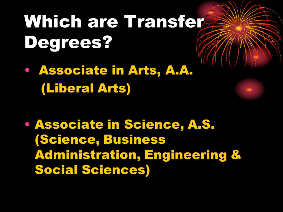 Which are Not Transferable Degrees.