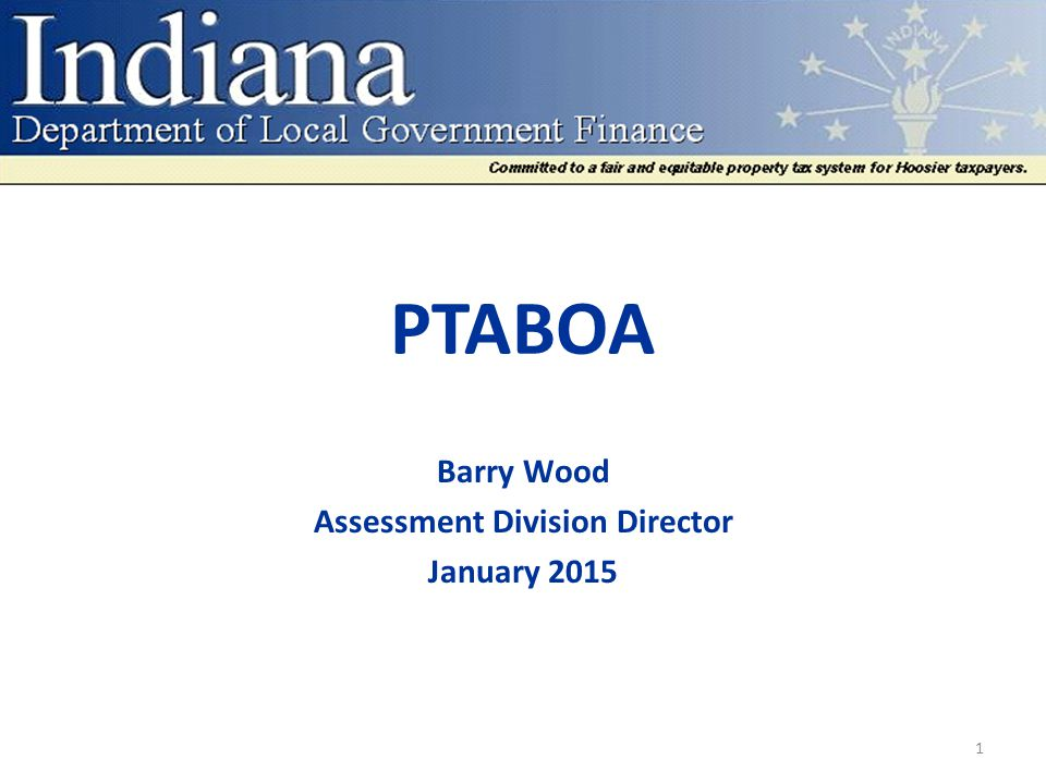 PTABOA If the county property tax assessment board of appeals fails to determine the values before the land values become effective, the department of local government finance shall determine the values.