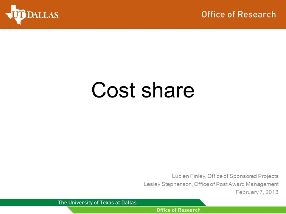 Important Points cont.Cost share cost centers must be funded before the grant is activated.