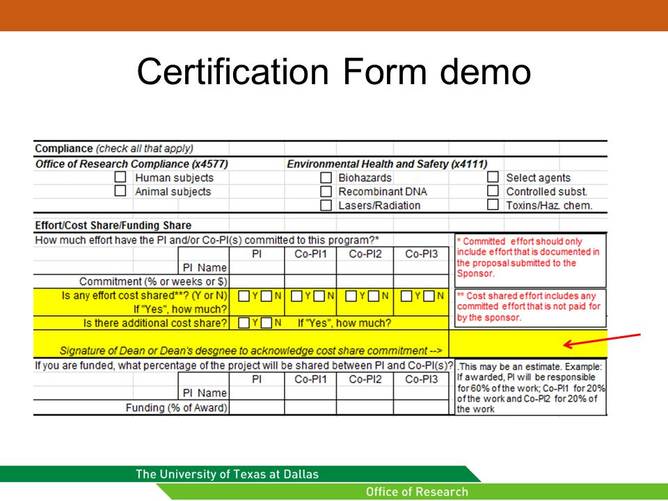 Certification Form demo