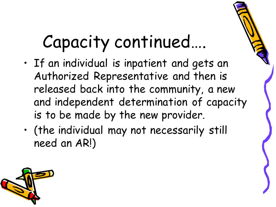 Capacity continued….