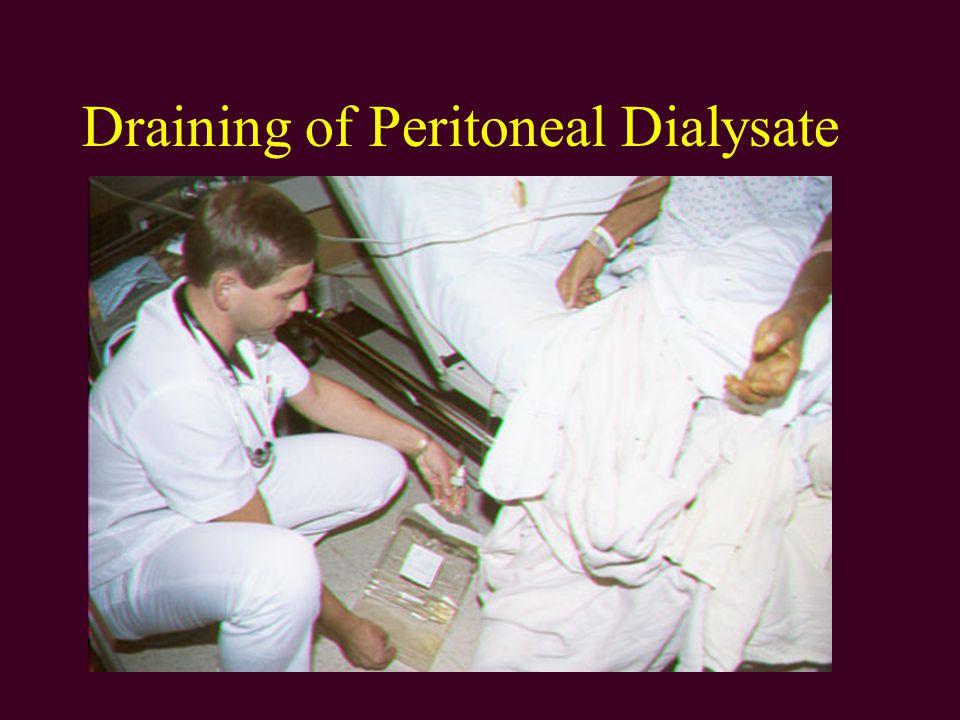 Draining of Peritoneal Dialysate