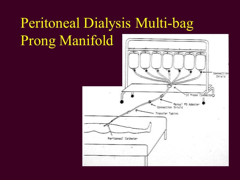 Peritoneal Dialysis Multi-bag Prong Manifold