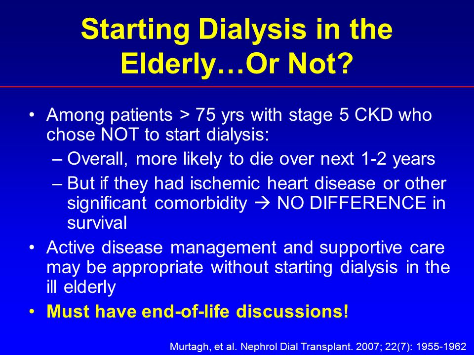Starting Dialysis in the Elderly…Or Not.