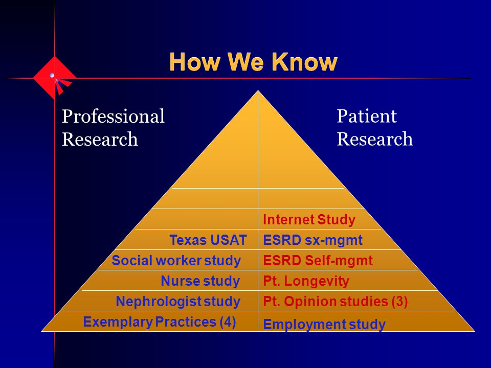How We Know Professional Research Patient Research Employment study Exemplary Practices (4) Pt.