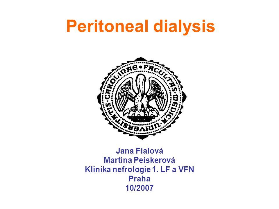 Types of peritoneal catheters