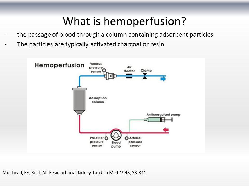 What is hemoperfusion.