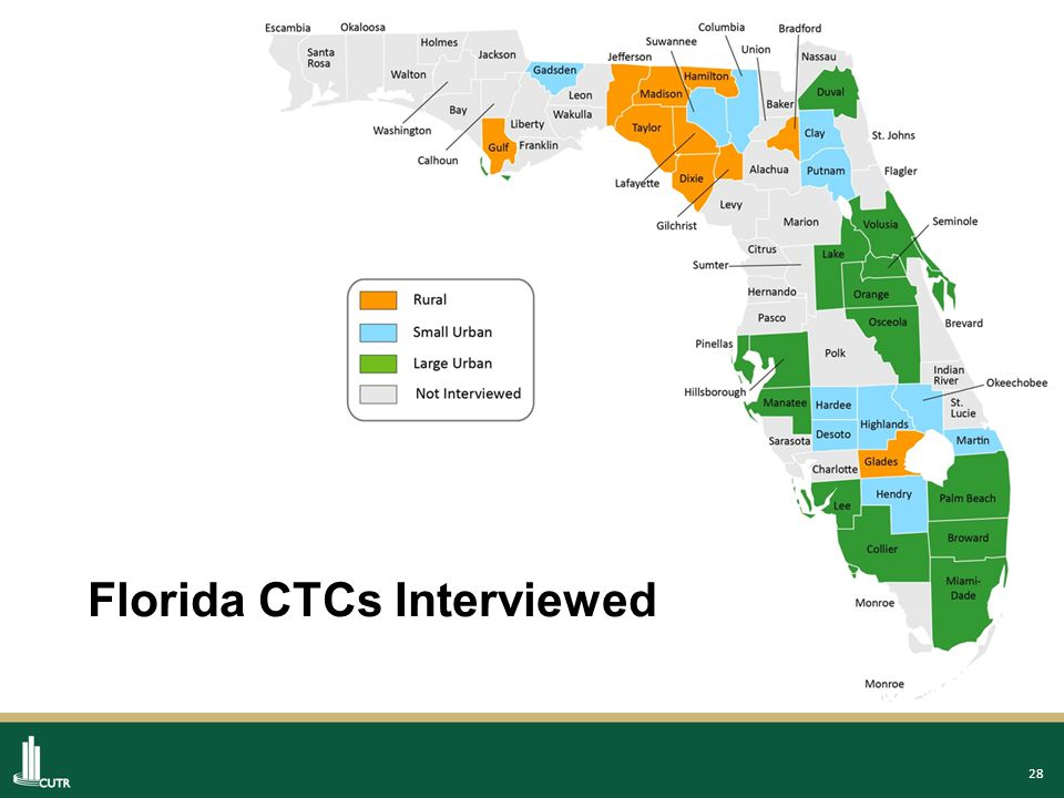 28 Florida CTCs Interviewed