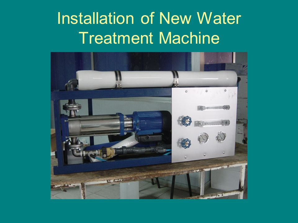 Installation of New Water Treatment Machine