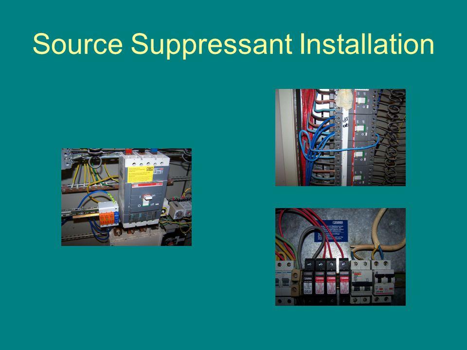 Source Suppressant Installation