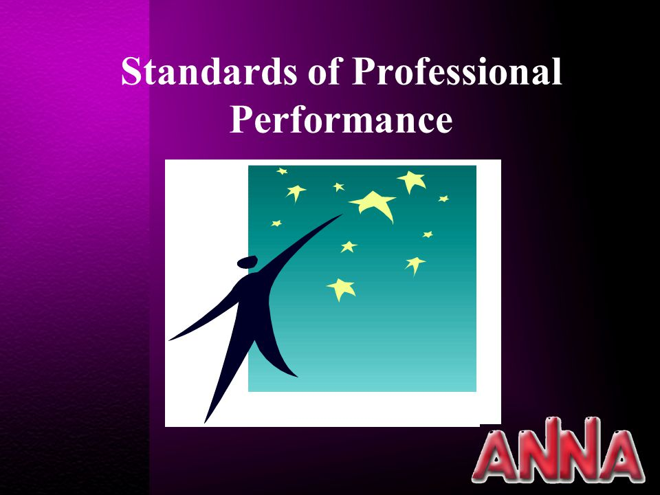 Standards of Professional Performance