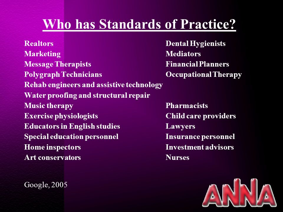 STRUCTUREPROCESSOUTCOME CLINICAL PRACTICE GUIDELINES CARE DELIVERY MODELS ADVANCED PRACTICE QUALITY IMPROVEMENT RESEARCH Quality of Care Performance Appraisal Education Collegiality Ethics Collaboration Research Resource Utilization Leadership STANDARDS OF PROFESSIONAL PERFORMANCE Assessment Diagnosis Outcome Identification Planning Implementation Evaluation STANDARDS OF CLINICAL PRACTICE STANDARDS OF CLINICAL PRACTICE Clinical End Points Safety General Well-Being Rehabilitation Satisfaction with Care PATIENT OUTCOMES Satisfaction Safety Professional Development Retention NURSE OUTCOMES Philosophy & Practice Leadership Infrastructure Communication ADMINISTRATION SUPPORT PROCESS ENHANCEMENT