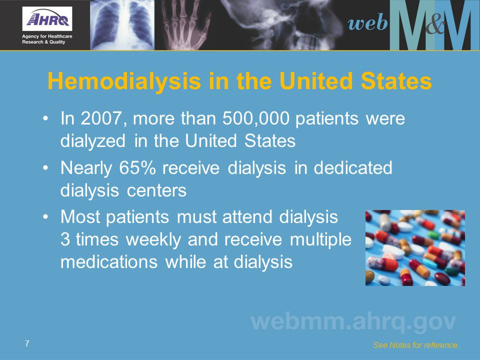 18 Falls at Dialysis Centers Falls are common–nearly 50% of patients had a fall in 190.5 person-years of follow-up Risk factors for falls in dialysis centers include: –Patient age –Total number of co-morbidities –Predialysis systolic blood pressure –History of falls