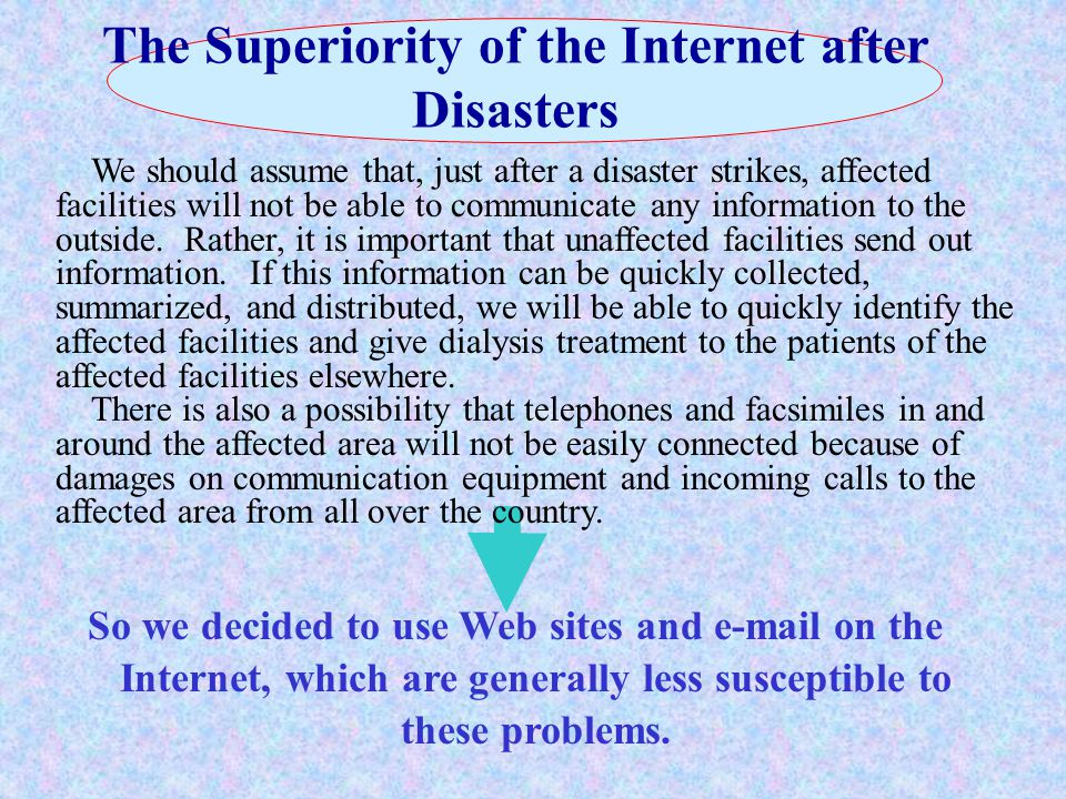 Web Site for Sharing Disaster Information http://www.saigai-touseki.net/ Message board Links to pages for sending facility information and reading summary results